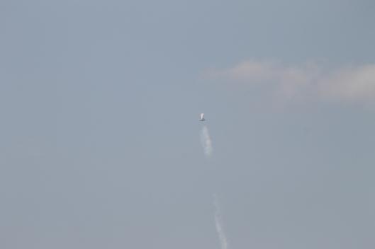 037Bi-plane with smoke-trail