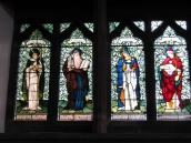 St Augustine of Hippo, St Jerome, St Ambrose and St Gregory by Morris and Co
