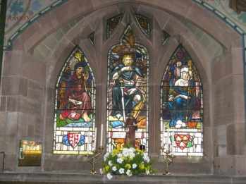 St Chad of Lichfield, King Alfred of Wessex and St Werburgh of Chester by J E Platt