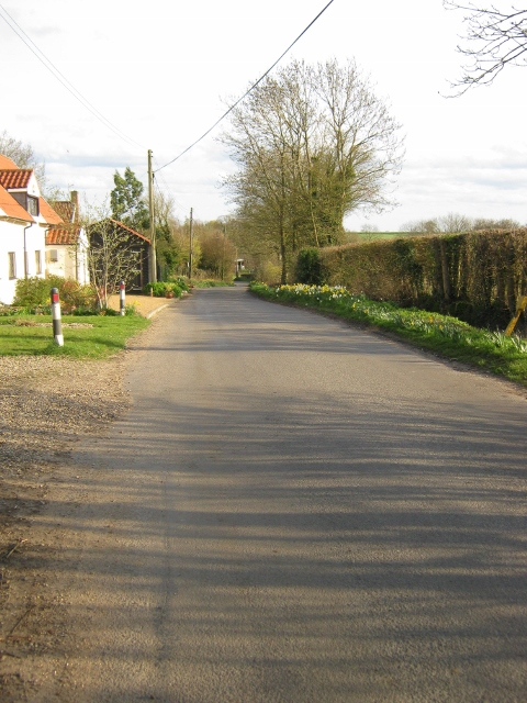 Down the hill from the church