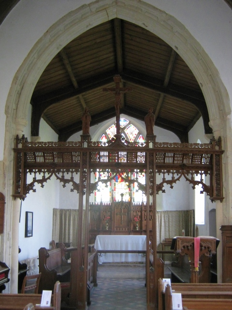 Rood screen and chancel