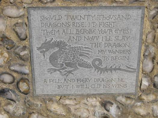 001Castle wall plaque
