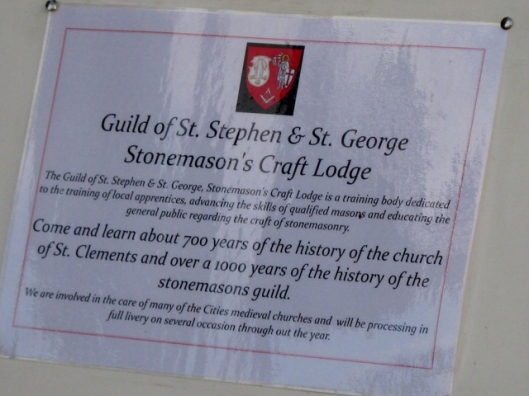 048Sign re Guild of St Stephen and St George