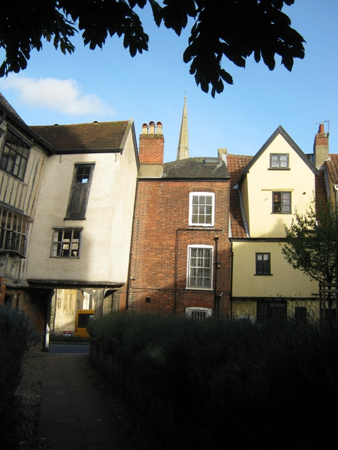 Buildings in Tombland Alley