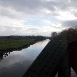 The Fens seen from a train window