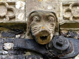 Dog grotesque on north side of the church